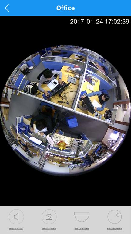 DBPOWER_SS. Потолочная - настенная WiFi видеокамера панорамная с DVR (fish_v380_W), HD 960P Артикул: